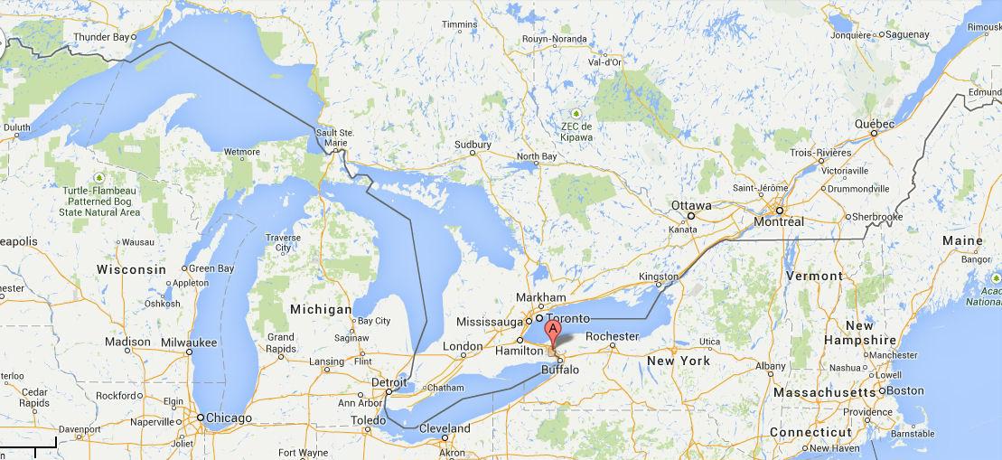 Niagarafaelle Reisebericht Lage